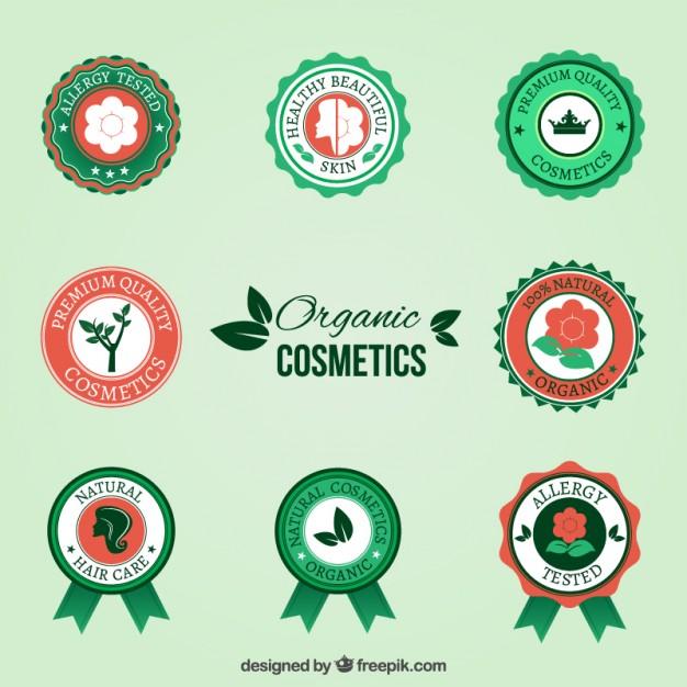 organic-cosmetic-badges
