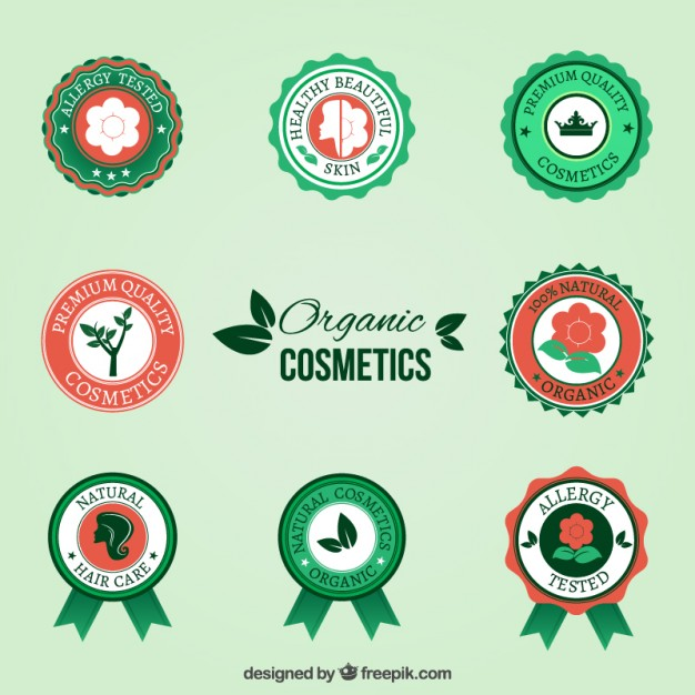 organic-cosmetic-badges